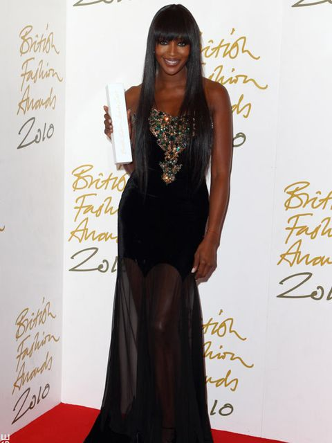 "<p><a href=""http://www.elleuk.com/starstyle/style-files/%28section%29/naomi-campbell"">Naomi Campbell</a> in <a href=""http://www.elleuk.com/catwalk/collections/alexander-mcqueen/autumn-winter-2010"">Alexander McQueen</a> at the  British Fashion Awards at Th"