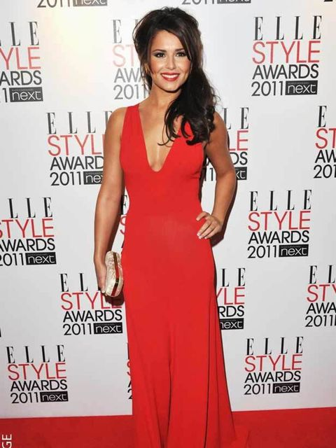 <p>Cheryl Cole wearing Alexander McQueen at the ELLE Style Awards 2011</p>