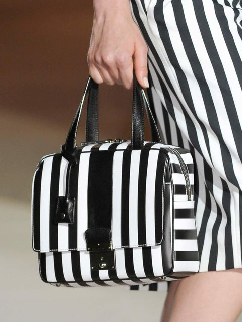 """<p><a href=""""http://www.elleuk.com/catwalk/designer-a-z/marc-jacobs/spring-summer-2013"""">Marc Jacobs</a> emulates the monochromed stripe for his spring/summer 2013 collection </p>"""
