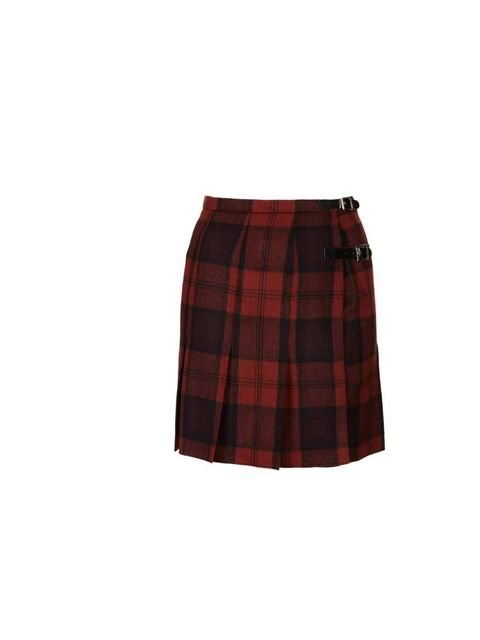"<p>Pair this tartan kilt with a white tee, leather jacket and black ankle boots for easy weekend cool.</p><p><a href=""http://www.topshop.com/en/tsuk/product/new-in-this-week-2169932/new-in-this-week-493/red-check-spliced-kilt-2261523?bi=1&amp&#x3B;ps=200"">Tops"