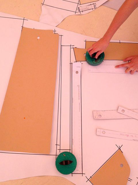 Carven (@carven_paris)  'Cutting #patterns D-5 before the #Carven #SS15 #show'