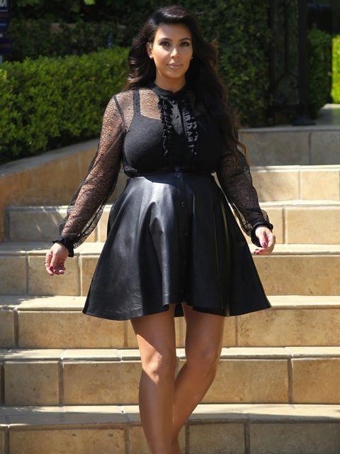 <p>Kim Kardashian on the way to the Leno taping</p>
