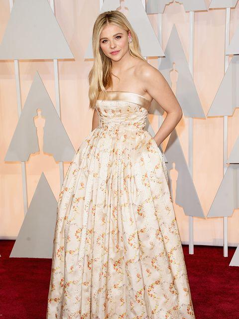 Chloe Moretz wore Miu Miu at the 2015 Oscars.