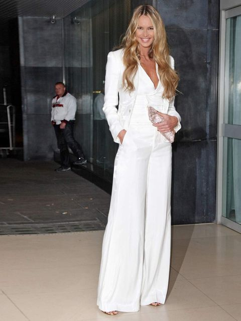 "<p>Elle Macpherson attends the Rodial Beautiful Awards in a <a href=""http://www.elleuk.com/catwalk/designer-a-z/ralph-lauren/spring-summer-2012/collection"">Ralph Lauren</a> white suit, March 2012.</p>"