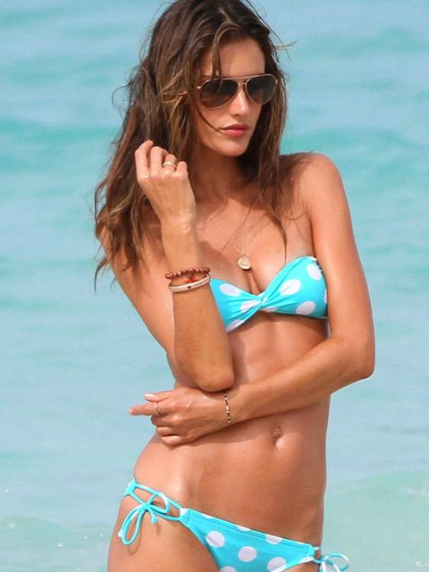 <p>Alessandra Ambrosio in St Barts, July 2010. </p>