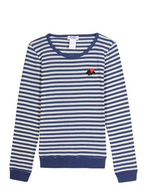 <p> </p><p>No wardrobe is complete without a Breton stripe so wrap up in style with this quirky twist on the classic. Sonia by Sonia Rykiel striped sweater, £143.75, at Mytheresa</p>