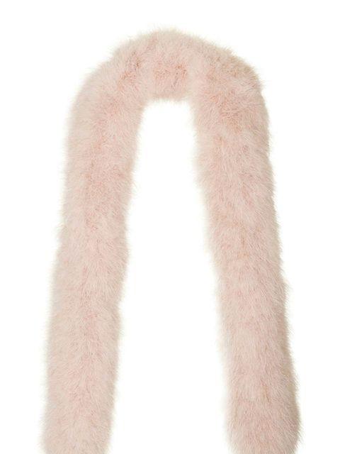 """<p><a href=""""http://www.topshop.com/en/tsuk/product/clothing-427/unique-4455342/waverton-feather-scarf-by-unique-5291049?bi=20&ps=20"""" target=""""_blank"""">Feather scarf, £195, Topshop Unique</a></p>"""