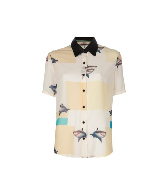 "<p>It may not tick any trends but how could anyone resist this utterly unique shark print shirt?  Vanesa Krongold shark print shirt, £168, at Farfetch</p><p><a href=""http://shopping.elleuk.com/browse?fts=vanesa+krongold"">BUY NOW</a></p>"