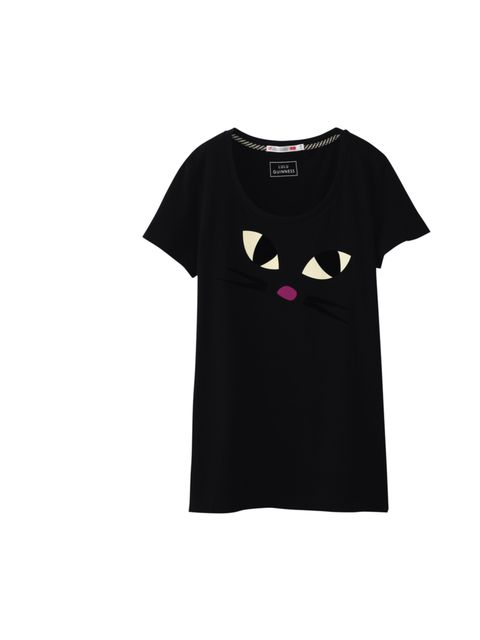 "<p>Cute and feminine just like her iconic accessories, this cat print tee is just one of the 14 Lulu Guinness T-shirts now available at Uniqlo… Lulu Guinness printed T-shirt, 314.90, at <a href=""http://www.uniqlo.com/uk/"">Uniqlo</a></p>"