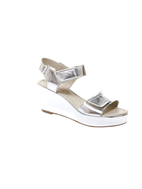 "<p>You can't fail to notice that metallic shoes are everywhere this season. So if you're going to invest make it in these Christopher Kane-inspired sandals… <a href=""http://www.office.co.uk/"">Office</a> silver metalic sandals, £55</p>"