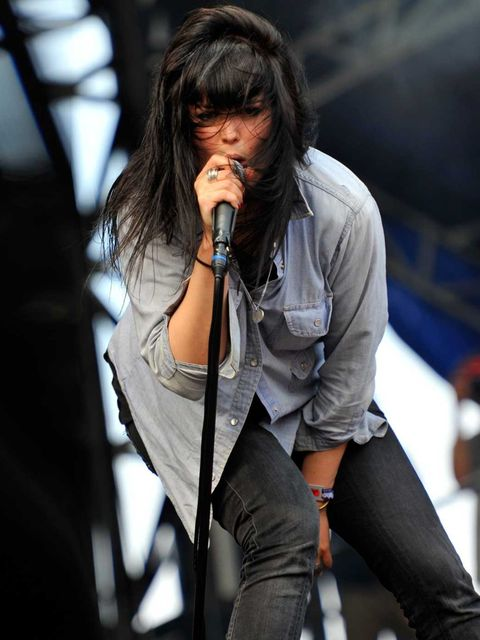 <p>Alison Mosshart performs at Lolapalooza, August 2011.</p>