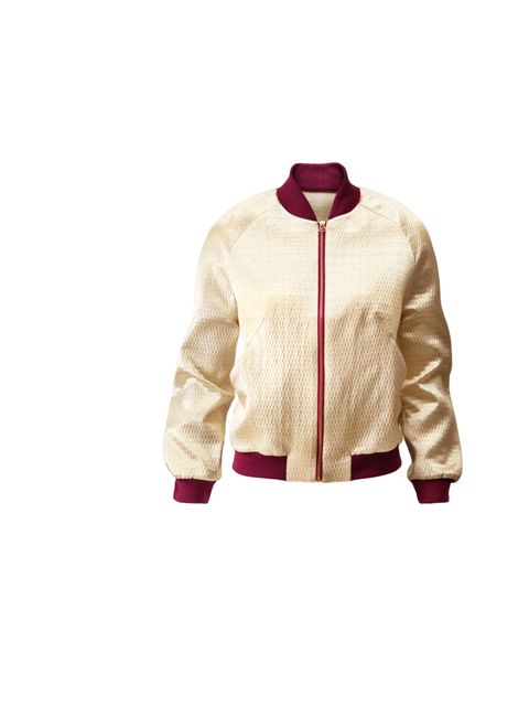 <p>H&amp;M two-tone bomber jacket, £39.99, for stockists call 0844 736 9000</p>