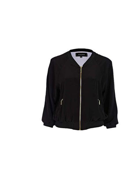 "<p><a href=""http://www.riverisland.com/Online/women/coats--jackets/jackets/black-bomber-jacket-618610"">River Island</a> black bomber jacket, £35</p>"
