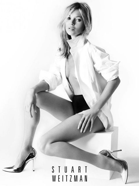 <p>Kate Moss stars in Stuart Weitzman's spring/summer 2013 campaign.</p>