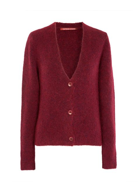 """<p><a href=""""http://www.comptoirdescotonniers.co.uk/eboutique/womens-collection/jumpers-and-cardigans/7970-vhonolulu-color-ruby-wine-vhonolulu.html"""" target=""""_blank"""">Compoir des Cotonniers</a>cardigan, £125</p>"""