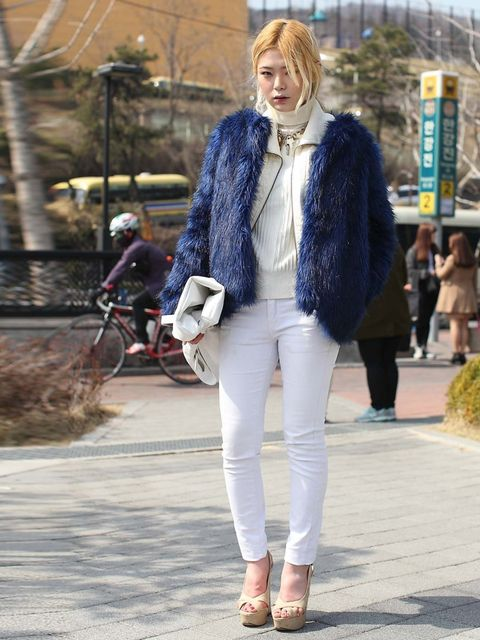 <p>Student. Wearing vintage faux fur, Forever21 jacket and shoes. </p>
