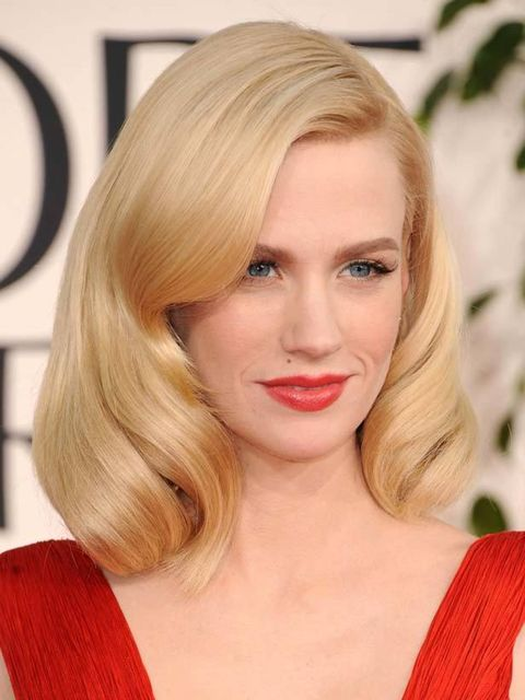 <p>January Jones, Golden Globes, Beverly Hills, January 2011</p>