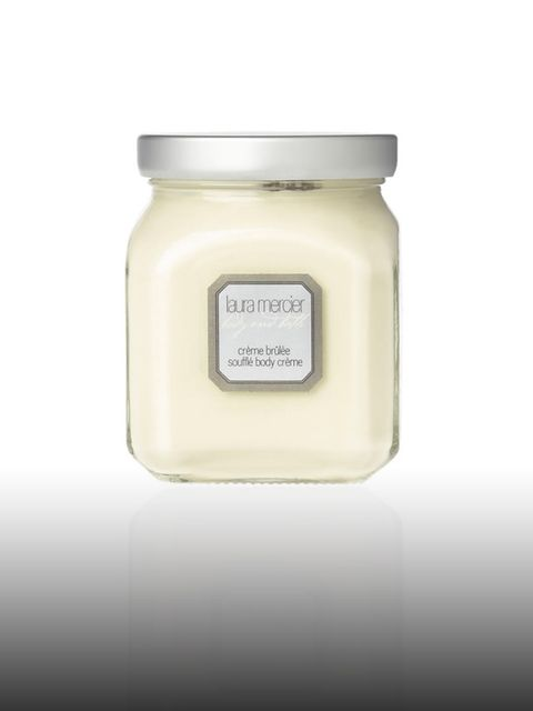 <p>Creme Brulee souffle body creme £40 by Laura Mercier. For stockists call 0800 123 400.</p><p>Living in L.A. Kimberley likes to keep her skin hydrated with Laura Mercier's luxe and divine smelling body cream. </p>