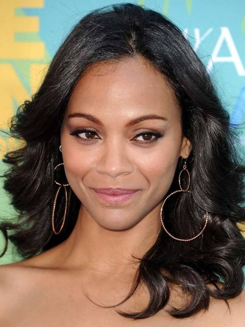 "<p><strong>Zoe Saldana </strong></p><p><strong>Where: </strong>Teen Choice Awards</p><p><strong>Hair by: </strong>Robert Vetica</p><p><strong>Step-by-step: </strong>'Start by blow-drying the hair using Moroccanoil Treatment, £30.45 (<a href=""http://www.hq"