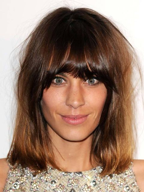 <p><strong>Alexa Chung</strong></p><p><strong>Where:</strong> British Fashion Awards</p><p><strong>Hair by:</strong> George Northwood</p><p><strong>Step-by-Step: </strong>'If you want this look ask for a heavy fringe, cut slightly rounded but not too wide