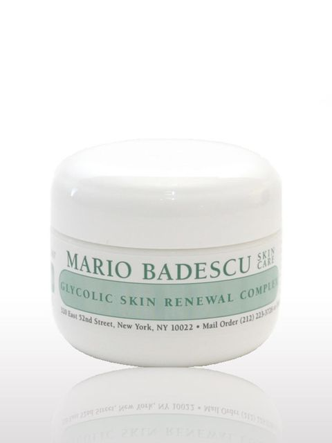 "<p>Glycolic Skin Renewal Complex, £28.50, by Mario Badescu at <a href=""http://www.beautybay.com/skincare/mariobadescu/glycolicskinrenewalcomplex/"">www.beautybay.com</a></p><p> </p><p>A perennial fave among the Hollywood elite, this cream gently exfoliates"