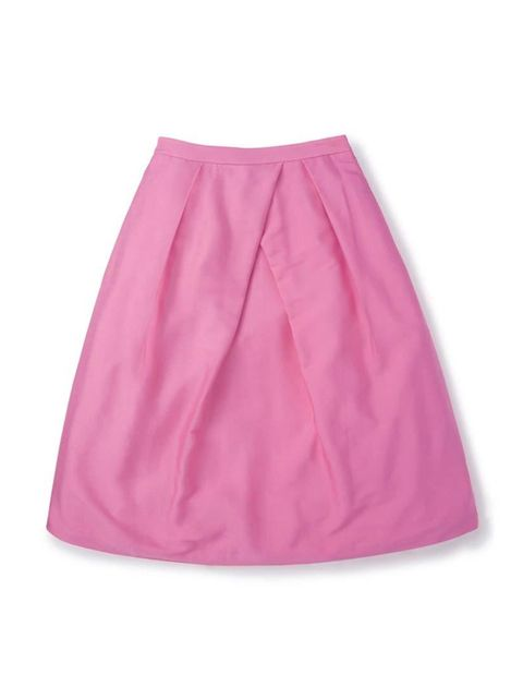 "<p>It's a flash of pink for Beauty Assistant Joely Walker.</p>  <p><a href=""http://www.boden.co.uk/en-GB/Womens-Skirts/Below-Knee-Skirts/BR042/Womens-Pleated-Full-Skirt.html"" target=""_blank"">Boden</a> skirt, £129</p>"