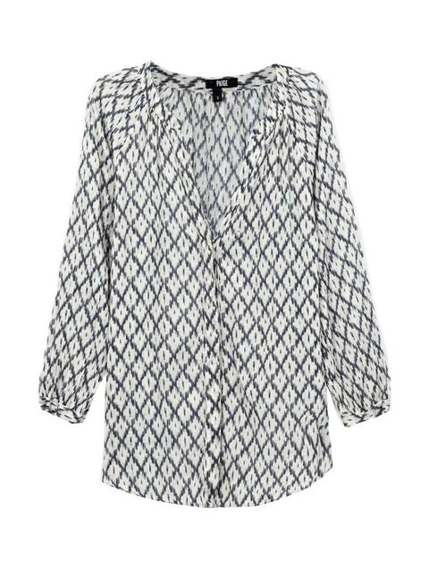 "<p>Pair this slinky printed shirt with cigarette pants. </p>  <p>Paige top, £180 at <a href=""http://www.trilogystores.co.uk/paige/sammy-top-in-alexandria.aspx"" target=""_blank"">Trilogy</a></p>"