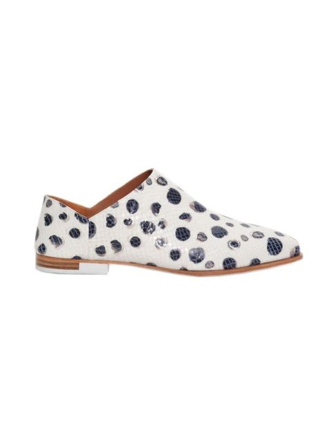 "<p>A classically masculine shape reinvented; a good fit for Fashion Assistant Charlie Gowans-Eglinton's wardrobe.</p>  <p><a href=""http://www.stories.com/gb/New_in/All_new_in/Dalmatian_Leather_Flats/591727-10180999.1"" target=""_blank"">& Other Stori"