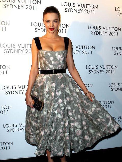 "<p><a href=""http://www.elleuk.com/starstyle/style-files/(section)/miranda-kerr"">Miranda Kerr </a>wore a <a href=""http://www.elleuk.com/catwalk/collections/louis-vuitton/autumn-winter-2010"">Louis Vuitton autumn 2010 </a>dress to a brand party in Australia."
