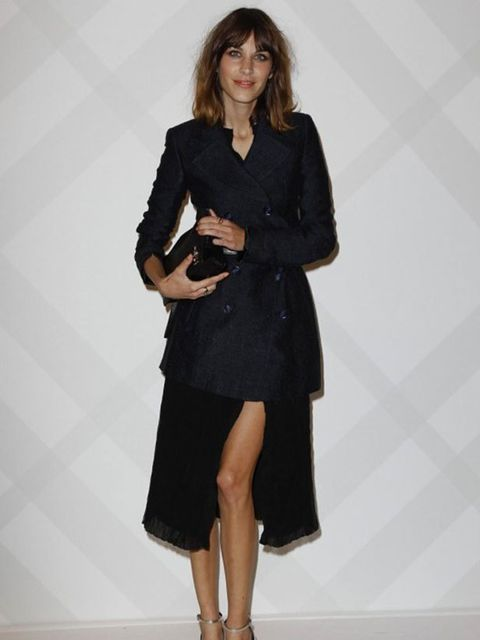 """<p><a href=""""http://www.elleuk.com/starstyle/style-files/(section)/alexa-chung"""">Alexa Chung</a> wore <a href=""""http://www.elleuk.com/catwalk/collections/burberry-prorsum/"""">Burberry </a>to the <a href=""""http://www.elleuk.com/news/star-style-news/burberry-take"""