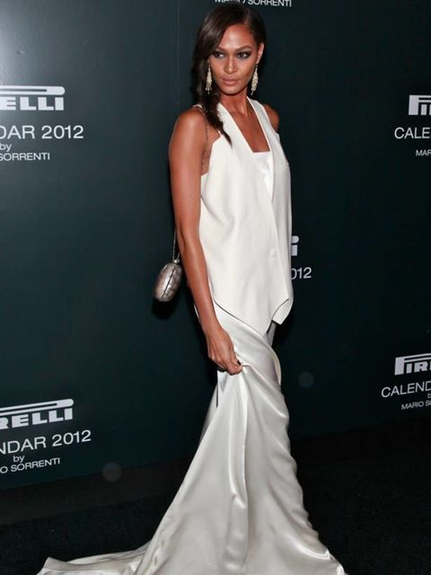 "<p><a href=""http://www.elleuk.com/catwalk/models/new-model-faces/(section)/s-s-2011/joan-smalls"">Joan Smalls</a> attended the launch of the <a href=""http://www.elleuk.com/news/star-style-news/kate-lara-et-al-pose-for-pirelli"">2012 Pirelli calendar</a> in"
