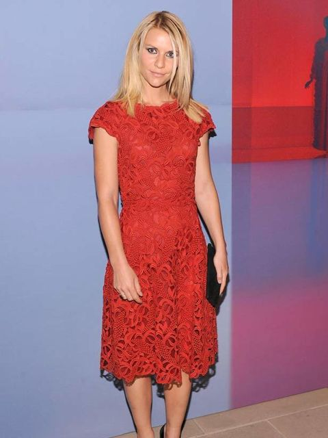 <p>Claire Danes at the Valentino party.</p>