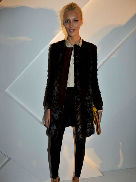 "<p>Model <a href=""http://www.elleuk.com/news/fashion-news/model-anja-rubik-marries-in-a-mullet-dress"">Anja Rubik</a> attends the opening of <a href=""http://www.elleuk.com/news/star-style-news/burberry-takes-paris/(gid)/832074"">Burberry's flagship store in"