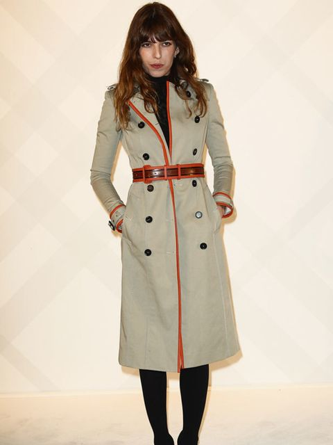 "<p><a href=""http://www.elleuk.com/starstyle/style-files/(section)/lou-doillon"">Lou Doillon</a> attends the opening of Burberry's newest flagship store in Paris.</p>"