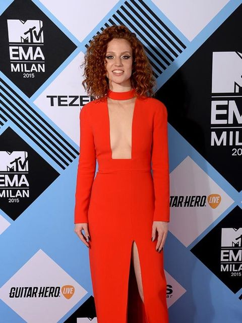 Jess Glynne on the MTV EMA's red carpet in Italy, October 2015