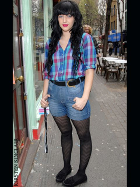 <p>A checked shirt is the perfect partner for high waisted shorts...</p>