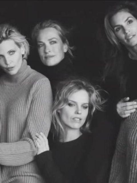 Cindy Crawford, Helena Christensen, Eva Herzigová, Karen Alexander, Nadja Auermann and Tatjana Patitz reunite once more for Peter Lindbergh's new film 'The Reunion'
