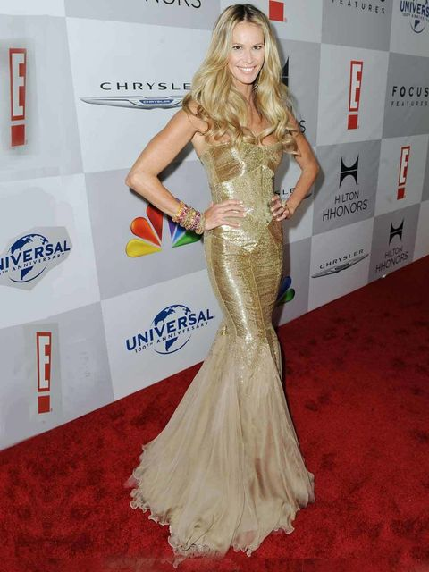 <p>Elle Macpherson at a Golden Globes after-party</p>