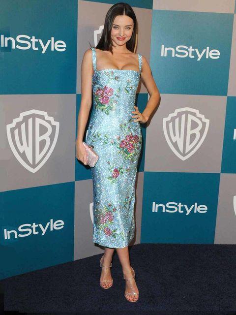 <p>Miranda Kerr in Dolce & Gabbana.</p>