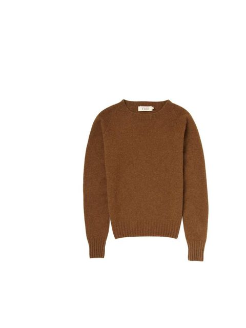 "<p>Cooler days have the ELLE team stockpiling sweaters - Art Director Miette Johnson has her eye on this tobacco crew neck.</p><p><a href=""http://www.youmustcreate.com/products/aw13-ymc-knits-tees-sweats/cashwool-crew-10/"">YMC</a> jumper, £210</p>"