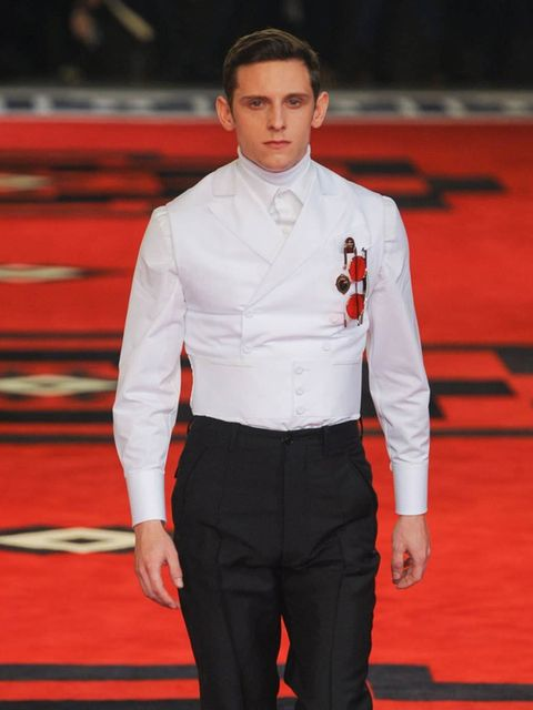 <p>Actor Jamie Bell modelled in the Prada A/W '12 men's show</p>
