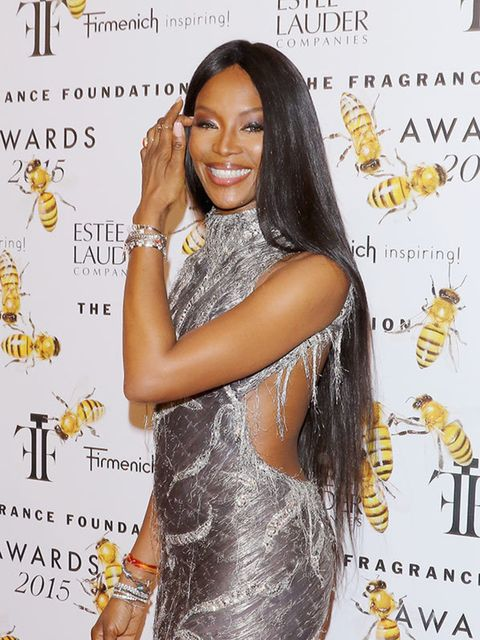 <p>She looks fierce on and off the runway but here is a smile from miss Naomi Campbell</p>