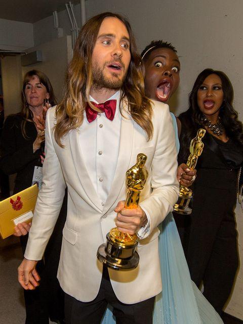 Lupita Nyong'o Gets Jared Leto At The Academy Awards