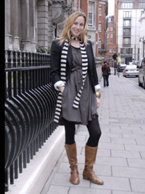 <p>Editorial Assistant and P.A to the Editor in Chief Claire Sacre shops in Gap for her work staples (it's practically next door the office, perfect for Claire who is always rushed off her feet!) She toughens up key staples with Belstaff boots and a strip
