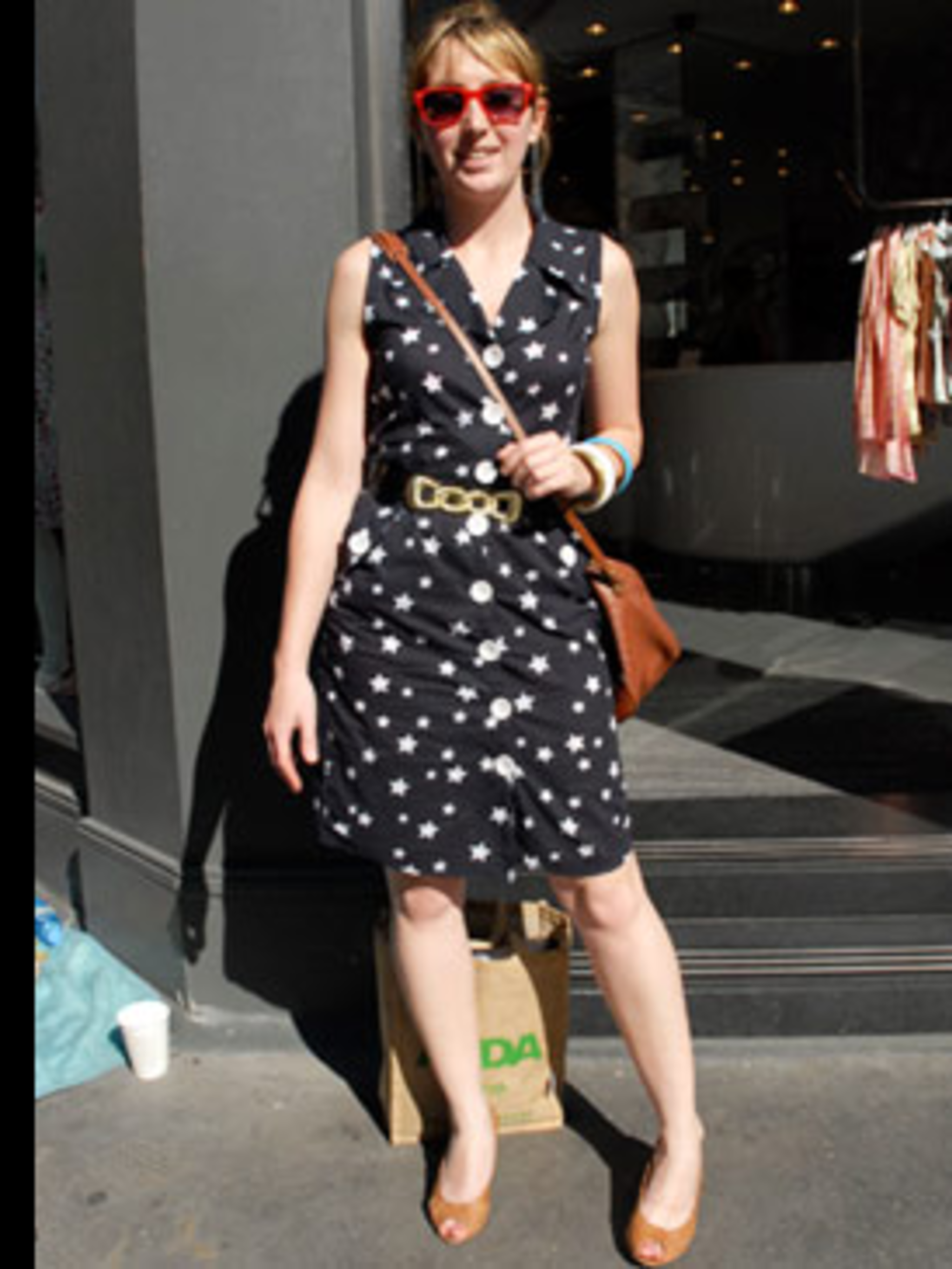 <p>It can't have escaped your notice that star prints have gone stellar this summer, and this gorgeous Primark dress is an easy way to buy into the trend. Breaking up a bold pattern with a gorgeous belt like this one is a good style tip. Teamed with red R
