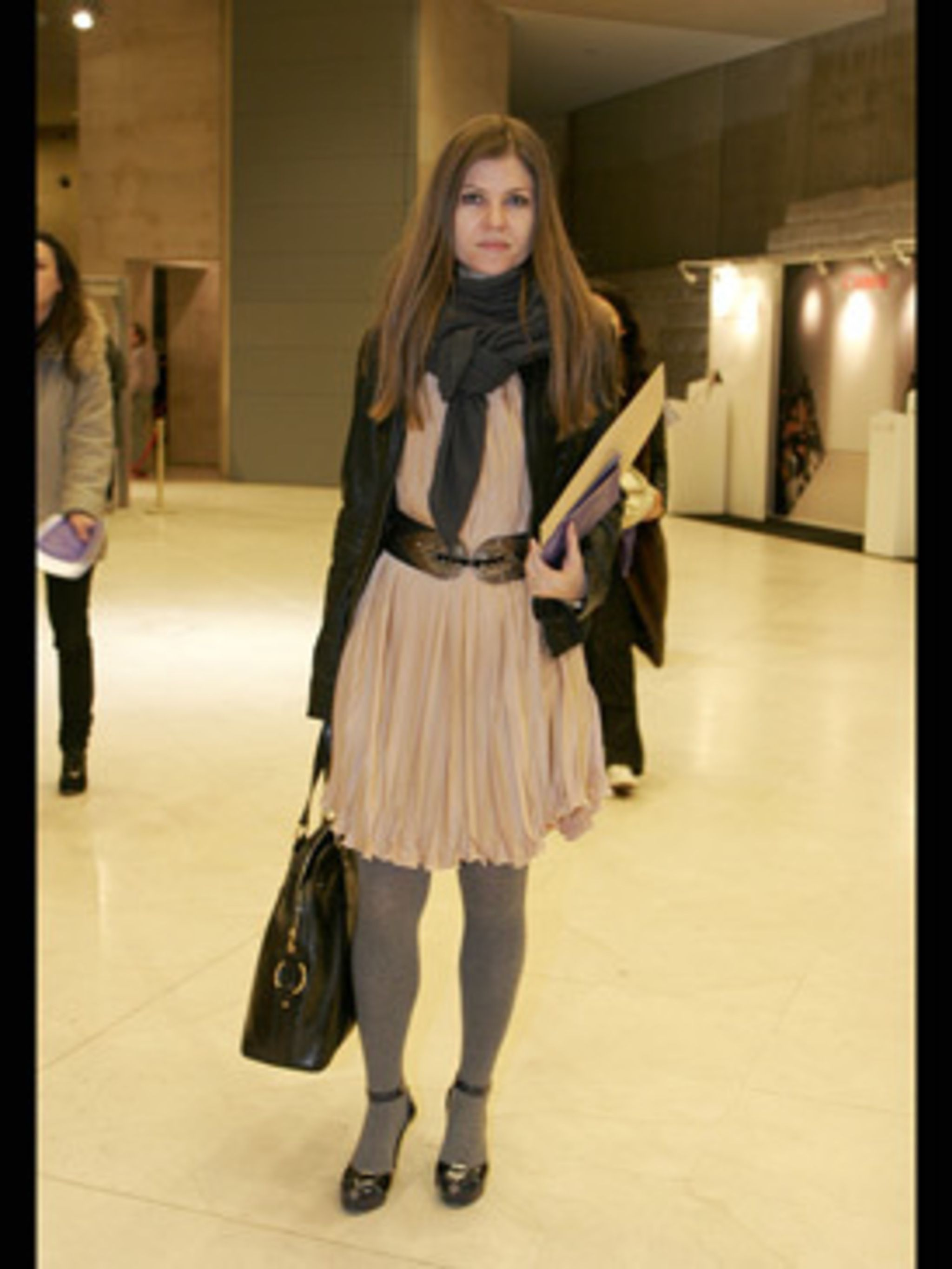 <p>Romance is everywhere for spring - dusky pinks, ruffles and flowing shapes. We love this pale pink dress which has been perfectly balanced for the transitional weather with grey wool tights and chunky accessories.</p>