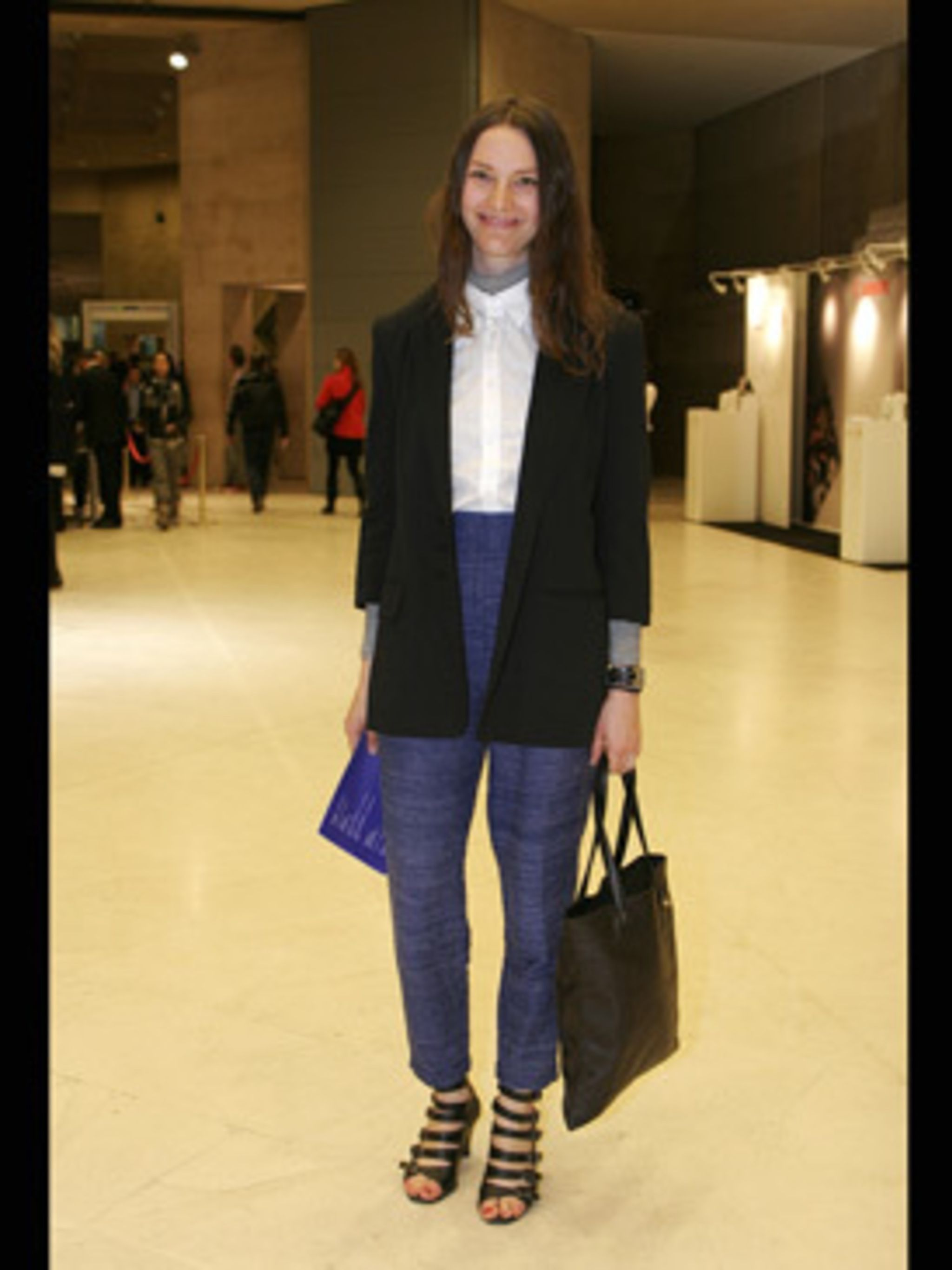 <p>High waist trousers are a big trend for spring, pair with a long slimming blazer to create a flattering silhouette.</p>