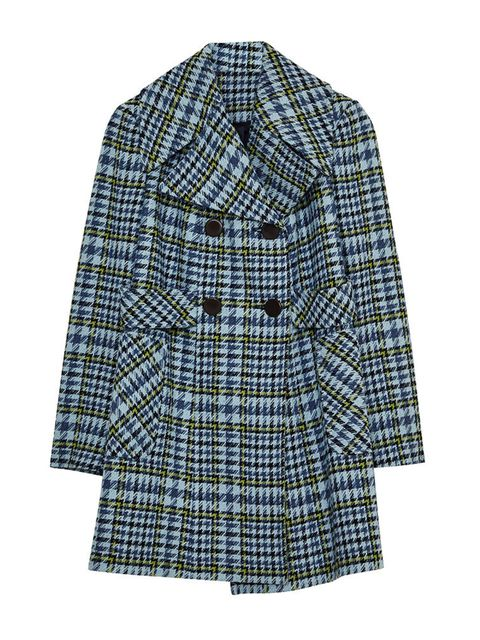 """<p><a href=""""http://www.asos.com/ASOS/ASOS-Coat-in-60s-Check/Prod/pgeproduct.aspx?iid=5517223&cid=2623&sh=0&pge=0&pgesize=36&sort=-1&clr=Baby+blue&totalstyles=390&gridsize=3"""" target=""""_blank"""">ASOS</a> coat, £85</p>"""