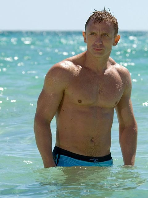<p>The famous blue trunks. You. Are. Welcome.</p>