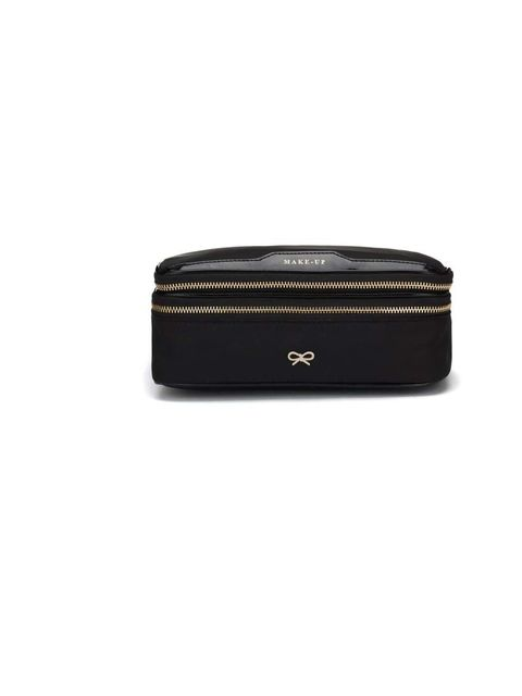 "<p>Make-up Bag, £175 by <a href=""http://www.anyahindmarch.com/prod/Beauty/Accessories/Make-up/41917/"">Anya Hindmarch</a></p>"